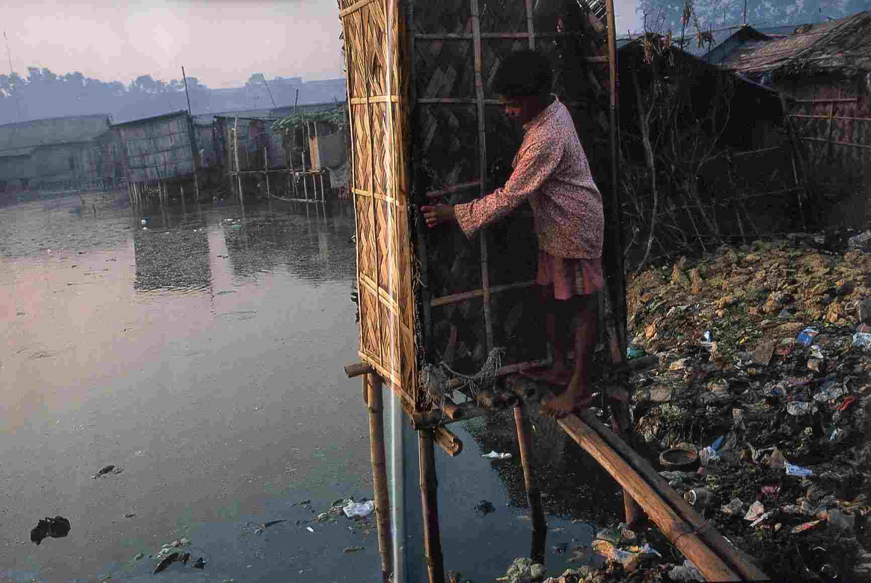 falta de investimento em saneamento