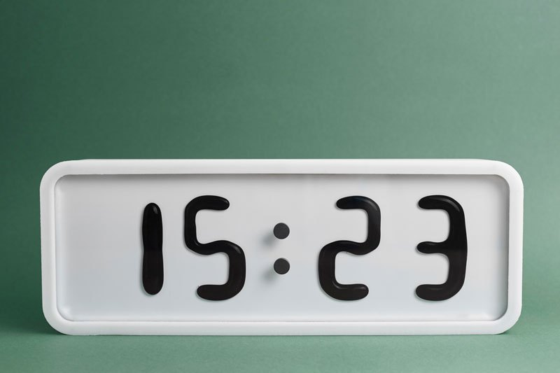relógio de ferrofluido